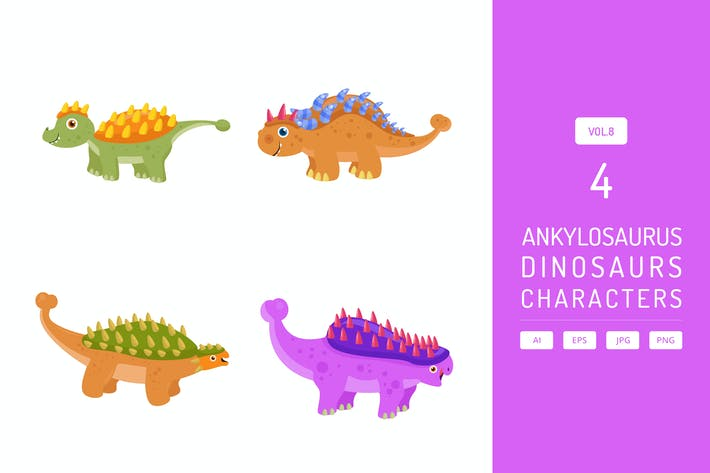 Thumbnail for Niedlicher Ankylosaurus - Dinosaurier Charakter Vol.8