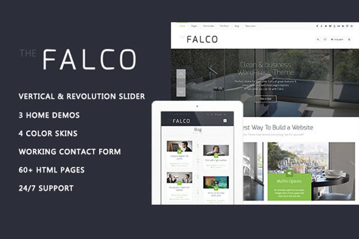 Thumbnail for Falco - Responsive Multi-Purpose HTML Template