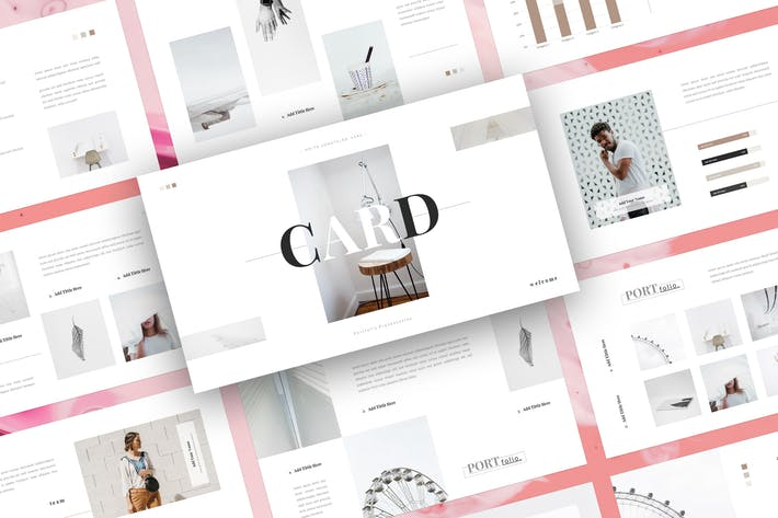Thumbnail for Card - Portfolio PowerPoint Template