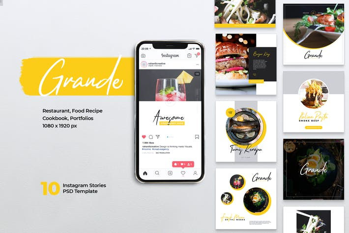 Thumbnail for GRANDE Restaurant Instagram & Facebook Post