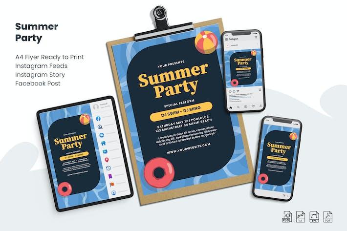 Summer Party - Flyer Set