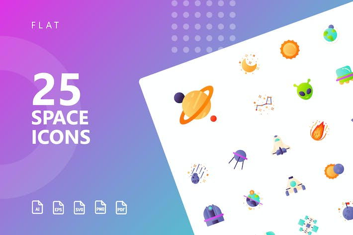 Thumbnail for Space Flat Icons