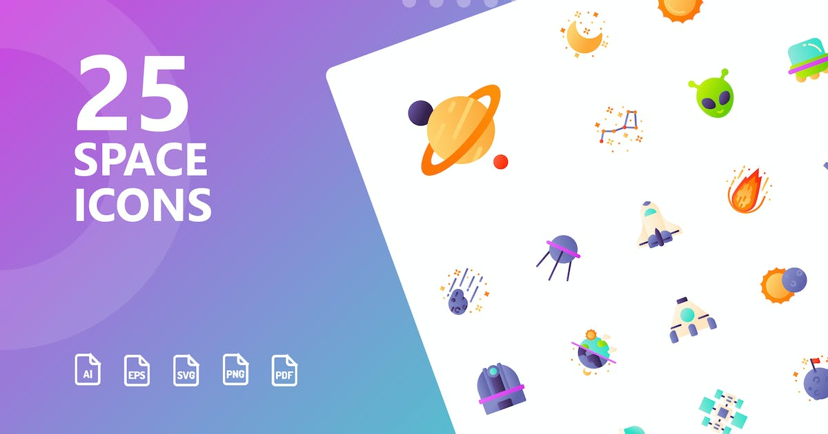 Download Space Flat Icons by kerismaker
