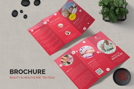 Beauty and Spa Trifold Brochure