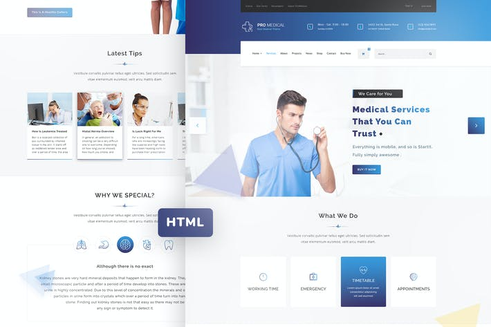 Thumbnail for ProMedical - Health And Medical HTML Template