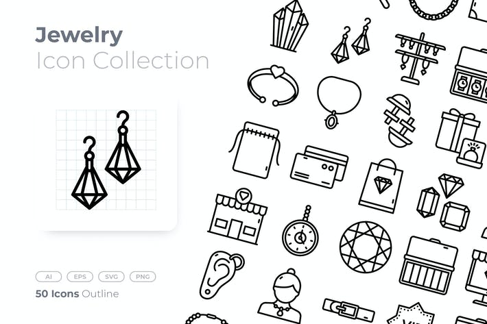 Jewelry Outline Icon