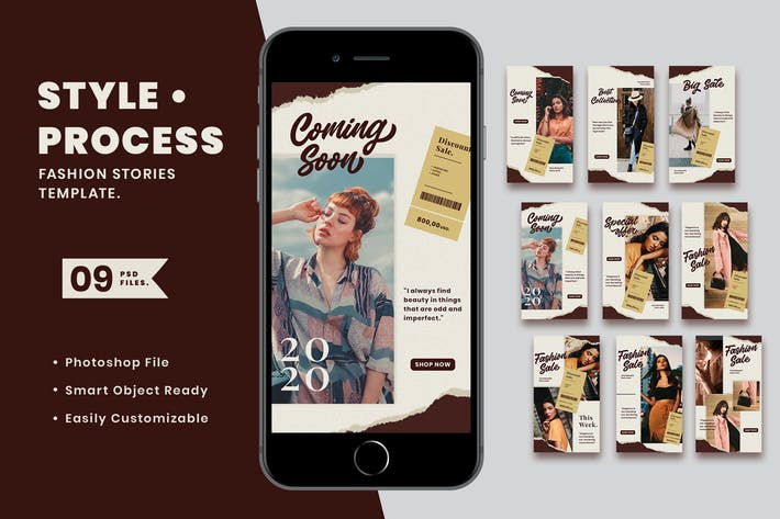 Thumbnail for Style Process Fashion Instagram Stories Template