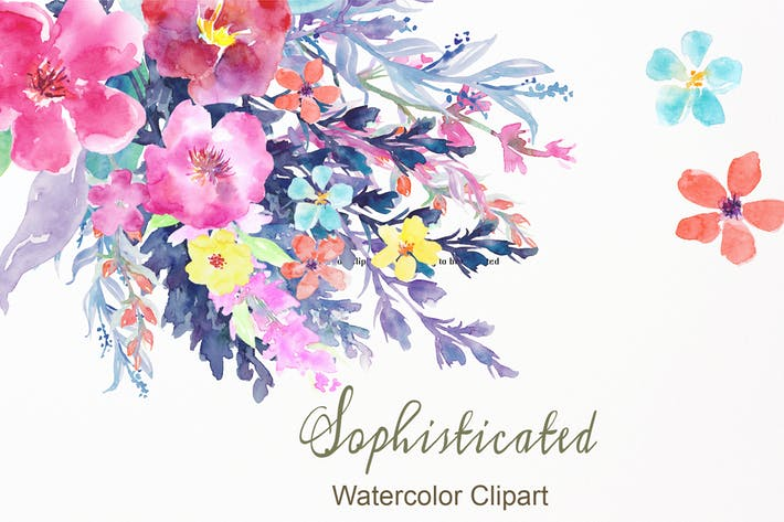 Thumbnail for Watercolor Flower Collection Sophisticated