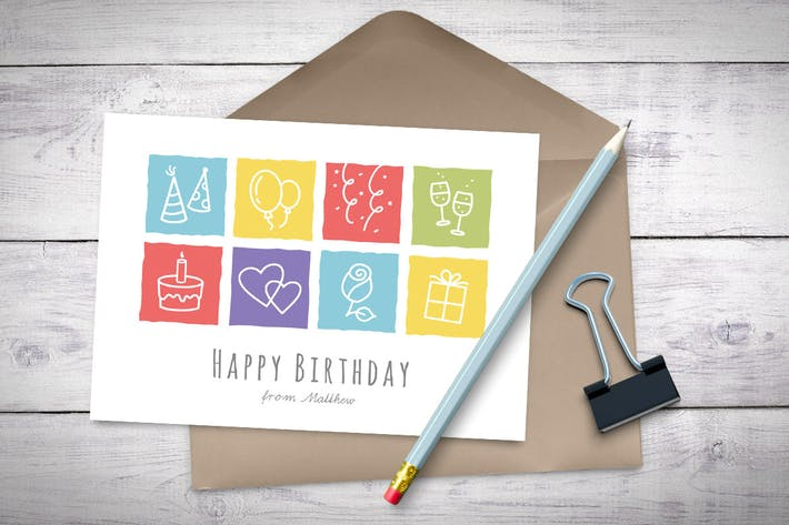 Thumbnail for Happy Birthday Greeting Card
