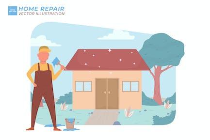 Home Repair Flat Illustration
