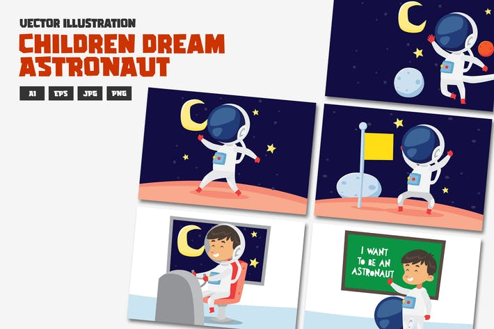 Thumbnail for Kinder Dream Serie, Astronout.