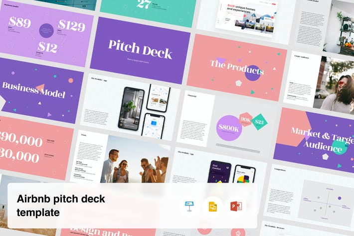 Thumbnail for Airbnb Startup pitch deck template