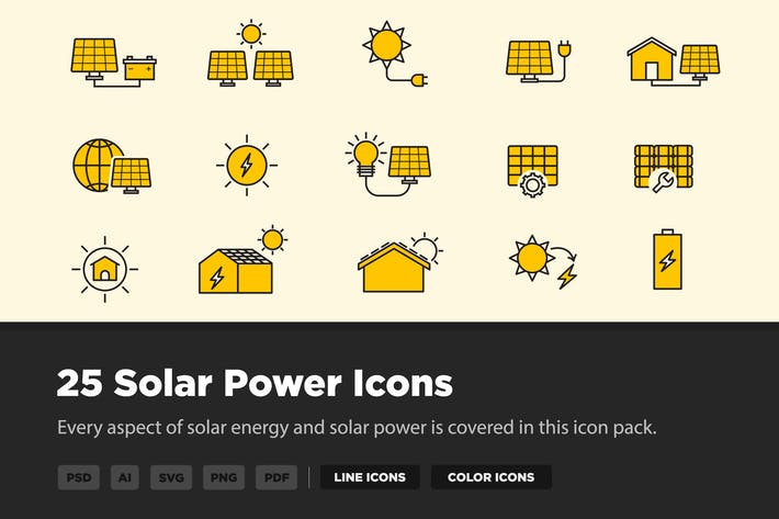 Thumbnail for 25 SonnenenergieIcons