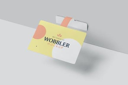Rechteck Wobbler Mock-ups