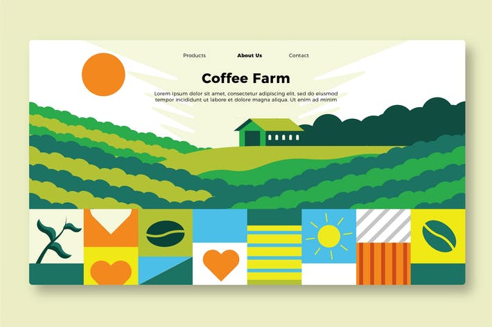 Thumbnail for Coffee Farm - Banner & Landing Page