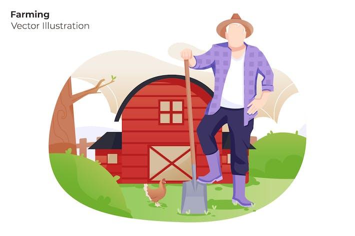 Thumbnail for Farming - Vector Illustration
