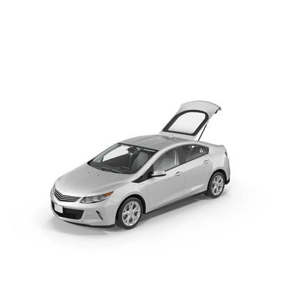 Generic Hybrid Car with Open Trunk