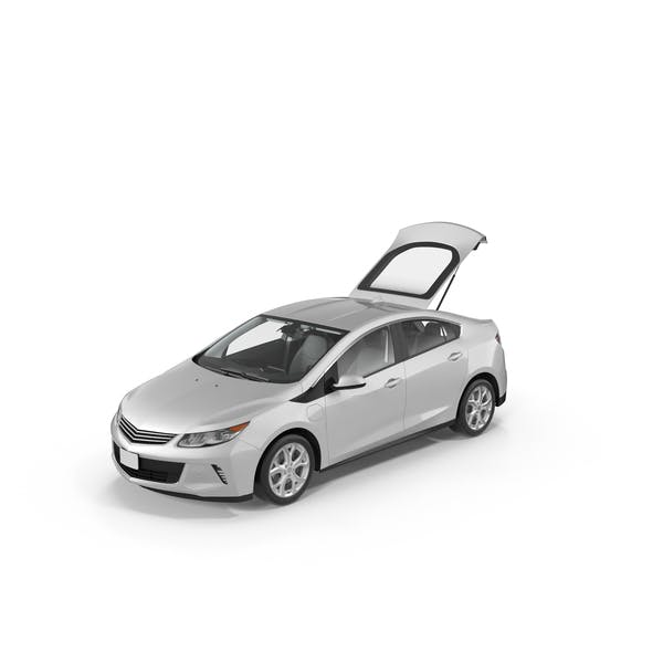 Cover Image for Generic Hybrid Car with Open Trunk