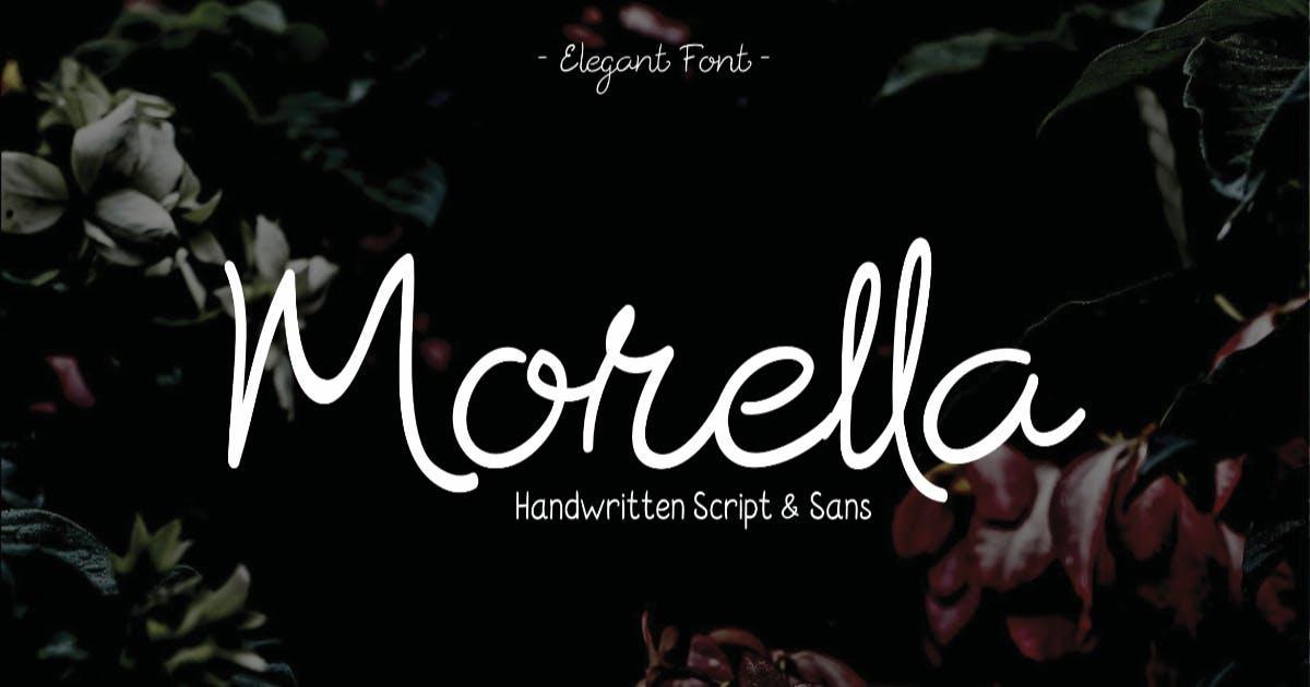 Download Morrella Hand drawn Script Fonts by MartypeCo