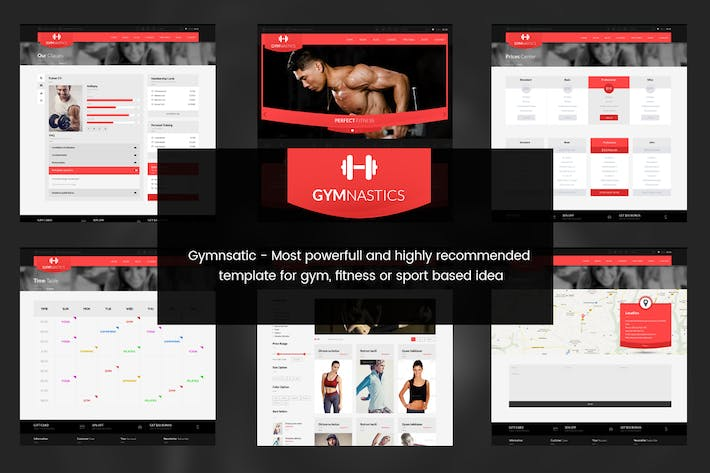 Cover Image For Gymnastics- PSD Template