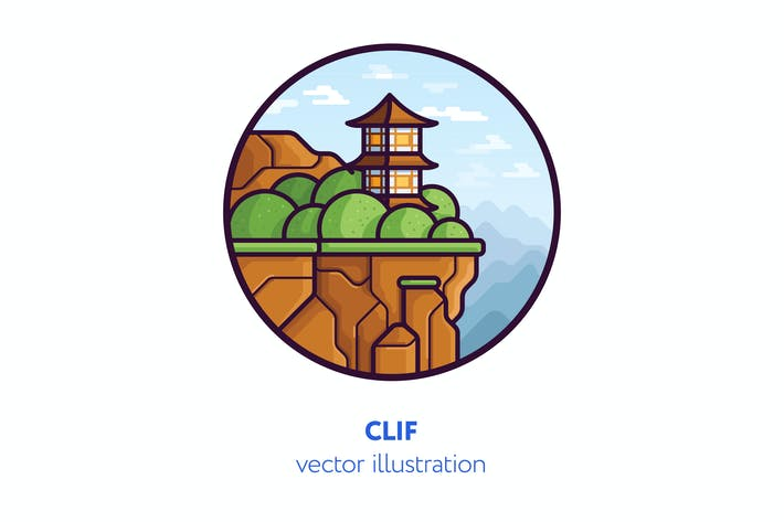 Thumbnail for Clif vector illustration