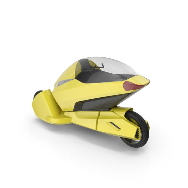 Concept Motor Cycle Yellow