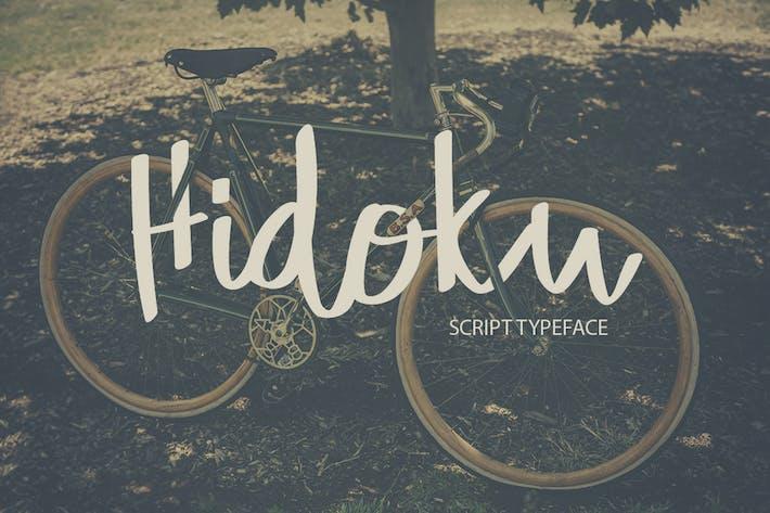 Thumbnail for Hidoku Script Typeface