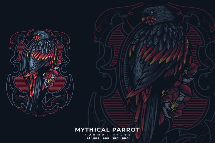 Cover Image For Mythical Parrot