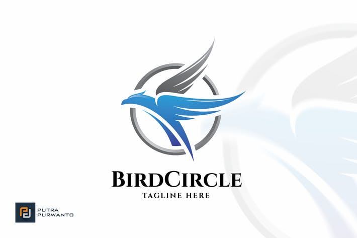Thumbnail for Bird Circle - Logo Template