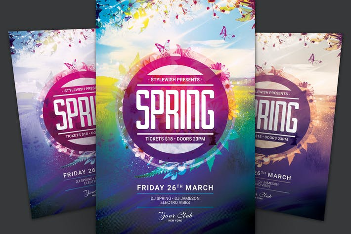 Cover Image For Spring Flyer Template
