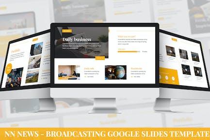 NN News - Broadcasting Google Slides Template