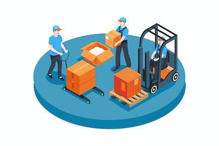 Project Logistics vector Illustration concept