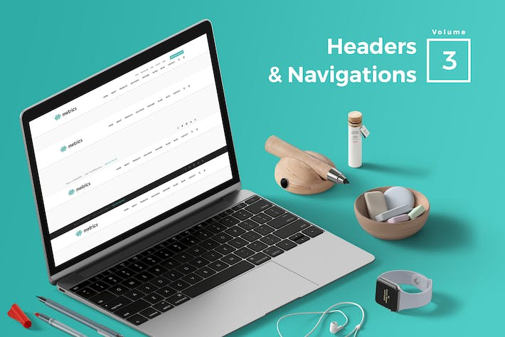 Thumbnail for Headers & Navigation for Web Vol 03
