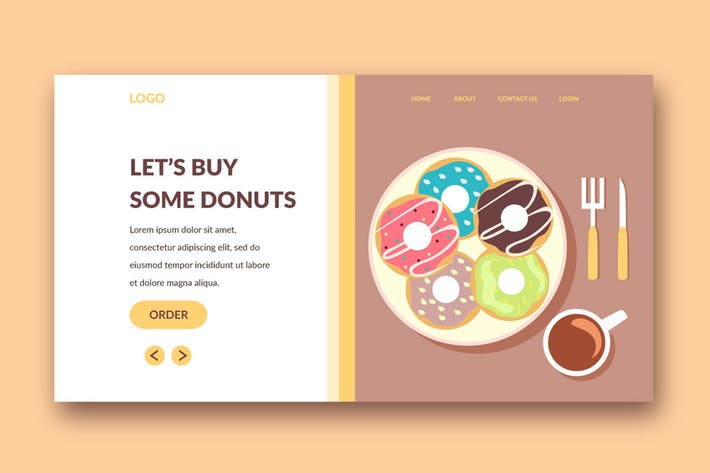 Thumbnail for donut landing page template
