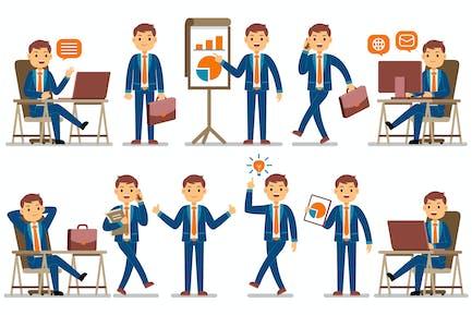 Geschäftsmann Beruf Charaktere Set
