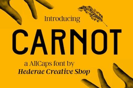 Carnot AllCaps Font