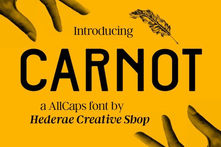 Thumbnail for Carnot AllCaps Font
