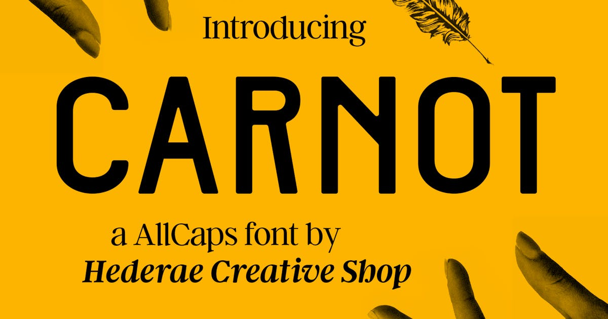Download Carnot AllCaps Font by hederaedesign