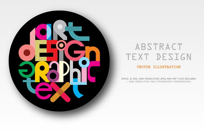 Thumbnail for Abstract Text Graphic Design vector illustration