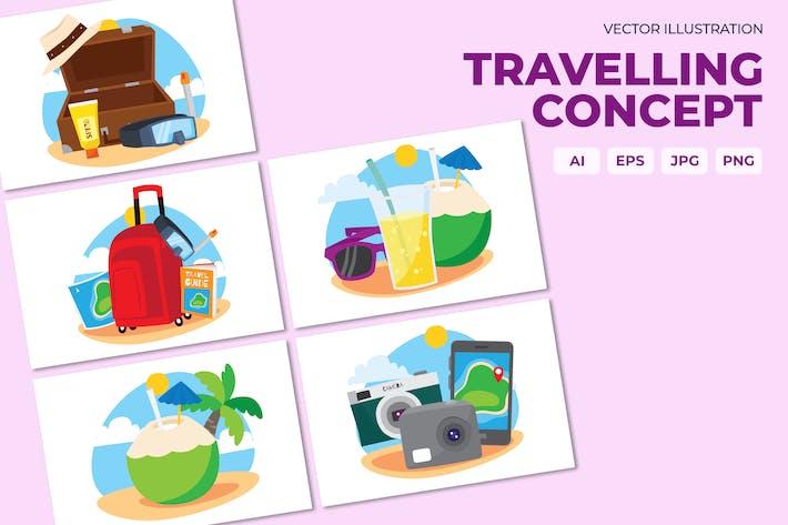 Thumbnail for Reise Illustration Konzept
