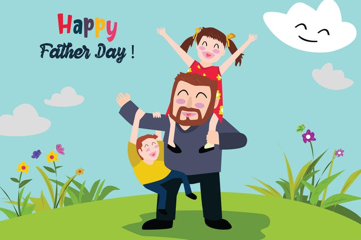 Thumbnail for Father Day - Vector Illustration