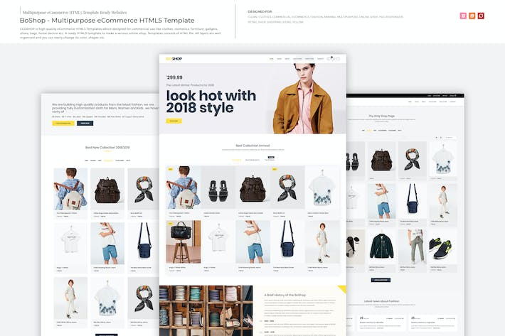 Thumbnail for BoShop - Multipurpose eCommerce HTML5 Template