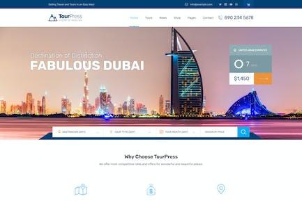 TourPress - Reservas de Viajes Tema WordPress