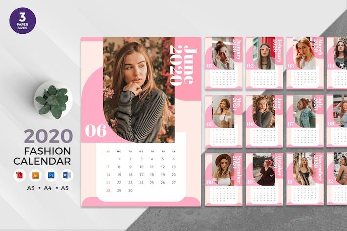 Thumbnail for Trendy Fashion 2020 Calendar - AI, DOC, PSD