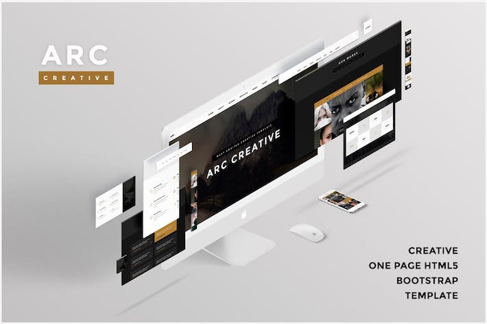Thumbnail for ARC - Creative One Page HTML5 Template v2.0