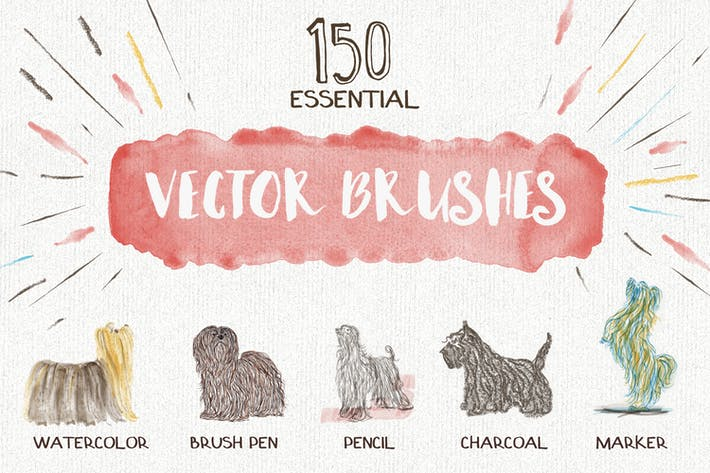 Thumbnail for Essential Vector Brushes Collection