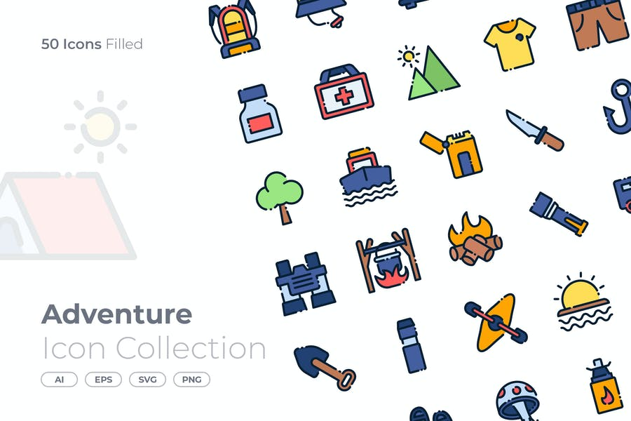 Adventure Filled Icon
