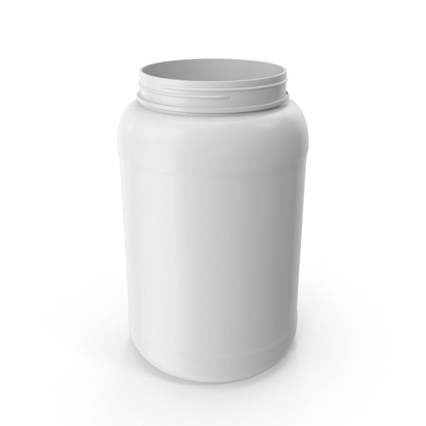 Пластиковая бутылка Широкий рот 1,5 галлон Белый без крышки