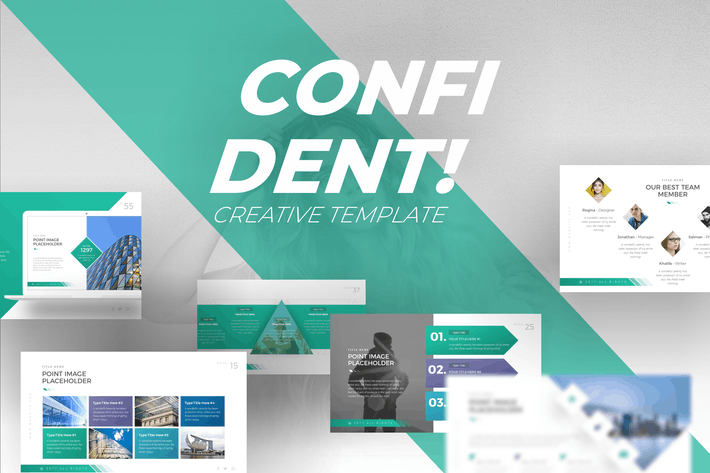 Thumbnail for Confident Creative PowerPoint Template