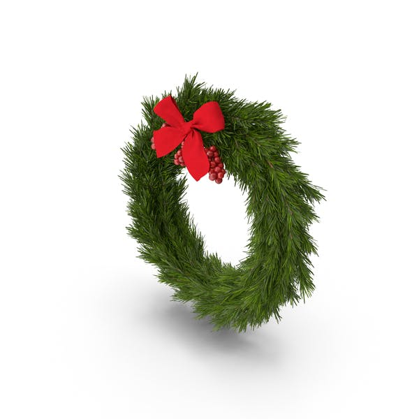 Thumbnail for Christmas Wreath With Red Bow